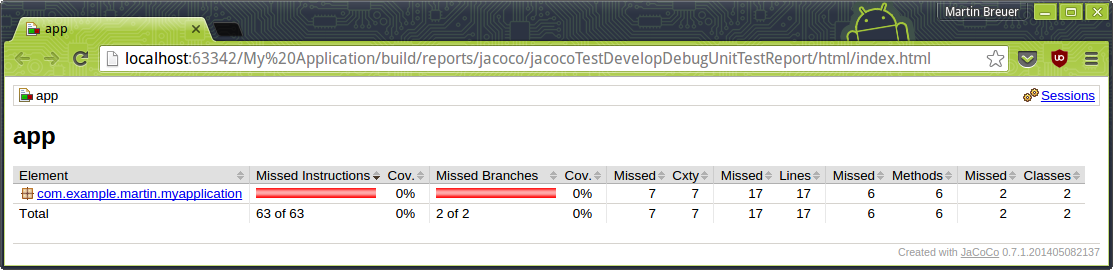 Static code quality measurements with SonarQube, JaCoCo and